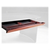 "Napoli Center Desk Drawer - 30"" Width x 18"" Depth x 2"" Height - Beveled Edge - Wood - Sierra Cherry, Veneer"