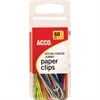 ACCO® Nylon Paper Clips - Jumbo - PVC-free, Snag Resistant - 60 / Pack - Assorted - Nylon