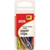 ACCO® Nylon Paper Clips - Jumbo - PVC-free, Snag Resistant - 60 / Pack - Assorted - Nylon
