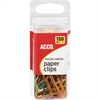 ACCO® Nylon Paper Clips, Smooth Finish, Standard Size, Assorted Colors, 150/Pack - Standard - PVC-free, Snag Resistant - 150 / Pack - Assorted - Nylon