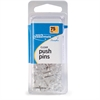 ACCO® Push Pins, Clear, 75/Box - for Paper - 75 / Pack - Clear - Plastic