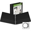 "Samsill Economy Round Ring View Binders - 1 1/2"" Binder Capacity - Letter - 8 1/2"" x 11"" Sheet Size - 375 Sheet Capacity - 3 x Ring Fastener(s) - 2 Internal Pocket(s) - Polypropylene, Chipboard - Blac"
