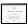 "Document Frame - 10"" x 8"" Frame Size - Holds 10"" x 8"" Insert - Desktop, Wall Mountable - Vertical, Horizontal - Easel Back - Plastic, Styrene - Black"