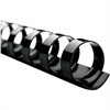 "Swingline® GBC® CombBind® Binding Spines - 0.63"" Maximum Capacity - 130 x Sheet Capacity - For Letter 8.50"" x 11"" Sheet - 19 x Rings - Black - PVC Plastic - 100 / Box"
