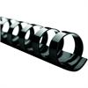 "Swingline® GBC® CombBind® Binding Spines - 0.4"" Diameter - 0.38"" Maximum Capacity - 60 x Sheet Capacity - For Letter 8.50"" x 11"" Sheet - 19 x Rings - Ring Binder - Black - PVC Plastic - 25"