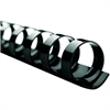 "GBC Swingline CombBind Binding Spines - 0.5"" Diameter - 90 x Sheet Capacity - For Letter 8.50"" x 11"" Sheet - 19 x Rings - Ring Binder - Black - PVC Plastic - 25 / Box"