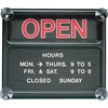 "Quartet® Black Open/Closed Sign, 14 3/8"" x 12 3/8"", Message Board - 1 Each - Open/Closed Print/Message - 14.4"" Width x 12.4"" Height - Orange Print/Message Color - Plastic - Black, White, Graphite"