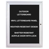 "Aluminum Frame Indoor Enclosed Letterboard - 24"" Height x 36"" Width - Silver Aluminum Frame - 1 Each"