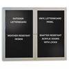 "Enclosed Letterboard - 36"" Height x 48"" Width - Satin Aluminum Frame - 1 Each"