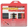 Sheaffer Classic 3-Pen Calligraphy Kit - Fine, Medium Point Type - Assorted