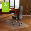 "Cleartex Ultimat Hard Floor Rectangular Chairmat - Home, Office, Hardwood Floor, Floor, Hard Floor, Carpeted Floor - 47"" Length x 35"" Width x 75 mil Thickness - Rectangle - Polycarbonate - Clear"