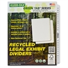 """Kleer-Fax A-Z Side Tab Index Set - Printed Tab(s) - Character - A-Z - 27 Tab(s)/Set - 8.5"""" Divider Width x 11"""" Divider Length - Letter - White Divider - White Tab(s) - 25 / Set"""