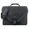 "Solo Classic Carrying Case (Messenger) for 17"" Notebook - Black - Ballistic Poly, Polyester - Handle, Shoulder Strap - 13.5"" Height x 17.3"" Width x 2.3"" Depth"