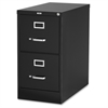 "Lorell Vertical file - 15"" x 25"" x 28.4"" - 2 x Drawer(s) for File - Letter - Vertical - Security Lock, Ball-bearing Suspension, Heavy Duty - Black - Steel - Recycled"
