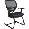 "Office Star Star Matrex Mesh Back Guest Chair - Black Seat - Sled Base - Black - 20.50"" Seat Width x 19.50"" Seat Depth - 26.5"" Width x 26.5"" Depth x 37.3"" Height"