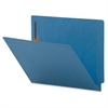 "Sparco Colored End Tab Fastener Folders - Letter - 8 1/2"" x 11"" Sheet Size - 2 Fastener(s) - Blue - Recycled - 50 / Box"