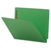 "Colored End Tab Fastener Folder - Letter - 8 1/2"" x 11"" Sheet Size - 2 Fastener(s) - Green - Recycled - 50 / Box"