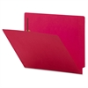 "Colored End Tab Fastener Folder - Letter - 8 1/2"" x 11"" Sheet Size - 2 Fastener(s) - Red - Recycled - 50 / Box"