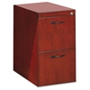 "Corsica Veneer Series File Pedestal - 15.3"" Width x 18"" Depth x 27"" Height - 2 - Beveled Edge - Hardwood, Wood - Sierra Cherry, Veneer"