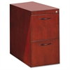 "Mayline Corsica Veneer Series File Pedestal - 15.3"" Width x 18"" Depth x 27"" Height - 2 - Beveled Edge - Hardwood, Wood - Sierra Cherry, Veneer"