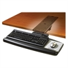 "3M™ Adjustable Keyboard Tray with Easy Adjust Arm, Standard Platform - 25.5"" Width x 12"" Depth - Black"