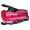 "PaperPro inJOY 12 Nano Stapler - 12 Sheets Capacity - 50 Staple Capacity - Mini - 1/4"" Staple Size - Pink, Translucent"