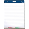 "Adams Lined Easel Pad - 50 Sheets - Printed - 15 lb Basis Weight - 27"" x 35"" - White Paper - Cardboard Cover - 2 / Carton"