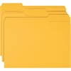 "Smead Colored Folders - Letter - 8.5"" x 11"" - 1/3 Tab Cut - 100 / Box - 11pt. - Goldenrod"