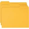 "Smead Colored Folders - Letter - 8.5"" x 11"" - 1/3 Tab Cut - 100 / Box - 11pt. - Goldenrod"