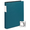 "Samsill Contour Cover D-Ring Reference Binder - 1 1/2"" Binder Capacity - Letter - 8 1/2"" x 11"" Sheet Size - 350 Sheet Capacity - 3 x D-Ring Fastener(s) - 1 Inside Front Pocket(s) - Vinyl - Teal - Recy"