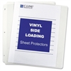 "C-Line Side Loading Sheet Protector - Letter 8.50"" x 11"" - Rectangular - Vinyl - 50 / Box - Clear"""