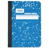 "Square Deal Colored Memo Book - 80 Sheets - Printed - Tape Bound 3.50"" x 4.50"" - Assorted Cover Marble - 1Each"