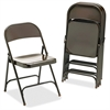 "Metal Folding Chairs - Mocha - Metal - 17.8"" Width x 18.6"" Depth x 29.5"" Height"