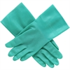 North Nitriguard Plus Unlined Nitrile Gloves - 9 Size Number - Green - Abrasion Resistant, Puncture Resistant - For Healthcare Working - 2 / Pair