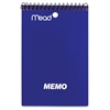 "Mead Coil Memo Notebook - 40 Pages - Printed - Wire Bound - 15 lb Basis Weight 4"" x 6"" - White Paper - Assorted Cover - 1Each"
