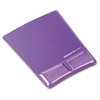 "Fellowes Mouse Pad / Wrist Support with Microban® Protection - 0.9"" x 8.3"" x 9.9"" Dimension - Purple - Gel, Polyurethane"