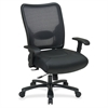"""Space Task Chair - Leather Seat - 5-star Base - Black - 22"""" Seat Width x 21"""" Seat Depth - 30.3"""" Width x 28.8"""" Depth x 44.5"""" Height"""