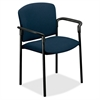 "Pagoda 4070 Series 4071 Stacking Chair - Polyester Mariner, Acrylic Seat - Metal Black Frame - Mariner - Polyester Fabric, Acrylic - 20.25"" Seat Width x 19.75"" Seat Depth - 27.3"" Width x 22.5"" Dep"