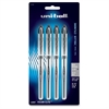Uni-Ball Vision Elite Rollerball Pens - Bold Point Type - 0.8 mm Point Size - Refillable - Black Gel-based Ink - 4 / Pack