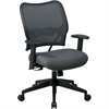 "Office Star Space VeraFlex Series Task Chair - Fabric Charcoal Seat - Fabric Charcoal Back - Plastic Black, Metal Frame - 5-star Base - Charcoal Gray - 19.50"" Seat Width x 20"" Seat Depth - 27"" Width x"