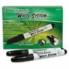 Dixon Dry Erase Markers - Chisel Point Style - Black - Plastic Barrel - 12 / Pack