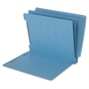 "End Tab Classification Folder - Letter - 8 1/2"" x 11"" Sheet Size - 2 1/4"" Expansion - 1"" Fastener Capacity for Folder - 6 Divider(s) - 15 pt. Folder Thickness - Blue - Recycled - 25 / Box"