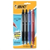 Velocity Gel Retractable Pen - 0.7 mm Point Size - Black, Blue Gel-based Ink - Assorted, Translucent Barrel - 4 / Set