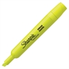 Sharpie SmearGuard Tank Style Highlighters - Chisel Point Style - Fluorescent Yellow - 1 Dozen
