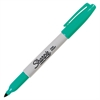 Sharpie Pen Style Permanent Marker - Fine Point Type - Aqua Alcohol Based Ink - 1 Each