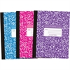 "Roaring Spring College Ruled 80-sheet Comp Book - 80 Sheets - Printed - Sewn 7.75"" x 10.25"" - Assorted Cover Marble - 1Each"
