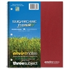 """Roaring Spring 3-Subject Wirebound Notebook - 120 Sheets - Printed - Wire Bound 9"""" x 11"""" - Assorted Cover - Recycled - 1Each"""