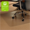 """Cleartex Ultimat Chair Mat for Low to Medium-pile Carpets - Corner Workstation - Carpeted Floor, Floor, Home, Office - 60"""" Length x 48"""" Width x 90 mil Thickness - Triangular - Polycarbonate - Clear"""