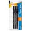 Paper Mate Erasermate Ballpoint Pens - Medium Point Type - Black - 3 / Pack