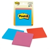 "Post-it Notes, 3 in x 3 in, Cape Town Color Collection - 150 - 3"" x 3"" - Square - 50 Sheets per Pad - Unruled - Assorted - Paper - Repositionable, Self-adhesive - 3 Pad"